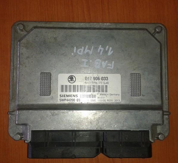 SKODA FABIA 1.4 MPI RJ MOTORA 047906033  5WP44100 08