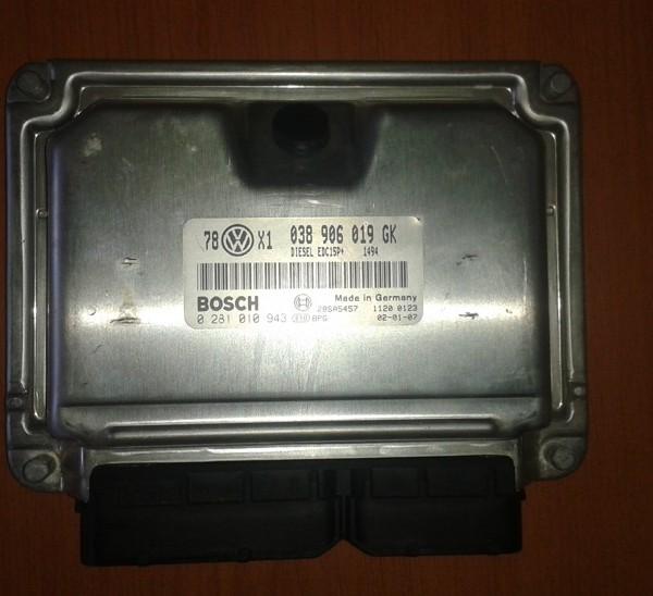 VOLKSWAGEN PASSAT 1.9 TDI 74KW RJ MOTORA 038906019GK 0281010943